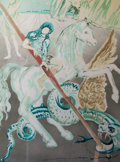 Lance of Chivalry 1978 Limited Edition Print by Salvador Dali