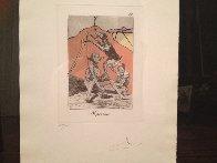 Ni Por Esas, From Caprices De Goya 1977 Limited Edition Print by Salvador Dali - 3