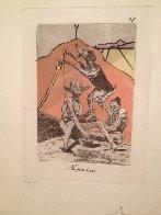 Ni Por Esas, From Caprices De Goya 1977 Limited Edition Print by Salvador Dali - 1