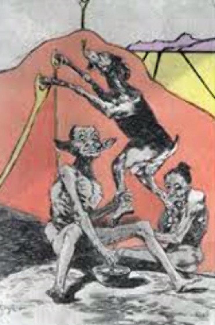 Ni Por Esas, From Caprices De Goya 1977 Limited Edition Print by Salvador Dali
