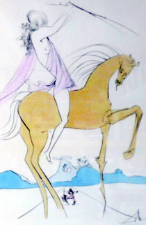 Amazone and Cavalier a La Rose, Set of 2 1973 Limited Edition Print by Salvador Dali