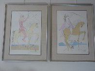 Amazone and Cavalier a La Rose, Set of 2 1973 Limited Edition Print by Salvador Dali - 2