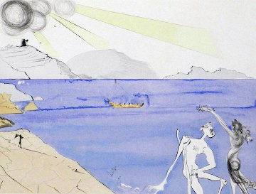 After 50 Years of Surrealism the Laurels of Happiness 1974 Limited Edition Print - Salvador Dali