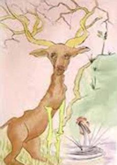 Le Cerf Se Yoyant Dans l'Eau  1974 Limited Edition Print - Salvador Dali