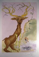Le Cerf Se Yoyant Dans l'Eau 1974 Limited Edition Print by Salvador Dali - 1