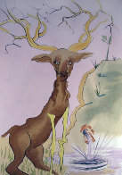Le Cerf Se Yoyant Dans l'Eau 1974 Limited Edition Print by Salvador Dali - 0