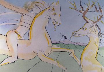 Le Cheval S'etant Voulu Venger Du Cerf 1974 Limited Edition Print - Salvador Dali