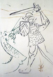 Le Tombe De Lancelot (La Quete Du Graal) 1975 Limited Edition Print - Salvador Dali
