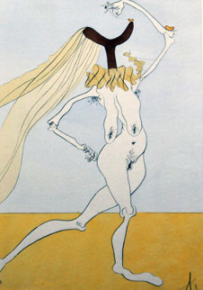 Visions De Quedo ( Nude With Veils) Limited Edition Print by Salvador Dali