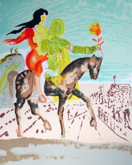 Messiah Woman Leading Horse Limited Edition Print by Salvador Dali