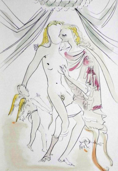 Hommage a Albrecht Durer Venus, Mars Et Cupidon 1971 Limited Edition Print by Salvador Dali