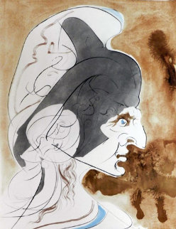 Hommage a Leonardo Condottiere 1975 Limited Edition Print - Salvador Dali