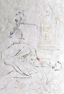 La Quete Du Graal Fight Before La Dame De Malehout 1975 Limited Edition Print - Salvador Dali
