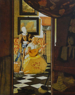 Changes in Great Masterpieces Vermeer 1974 Limited Edition Print by Salvador Dali