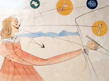 Imaginations Suite -  Dalinean Prophecy 1975  Limited Edition Print - Salvador Dali