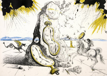 Les Rayons Cosmiques Resuscitent Les Montres Molles (Cosmic Rays Resuscitating) 1965 (Earl Limited Edition Print - Salvador Dali