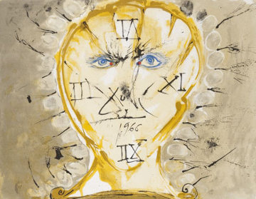 Autoportrait Au Cadran Solaire 1966 (early) Limited Edition Print - Salvador Dali