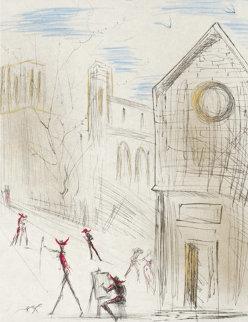 Saint Julien Le Pauvre 1971 Limited Edition Print by Salvador Dali