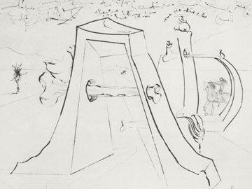 Hommage a Durer - Noir 1971 Limited Edition Print - Salvador Dali