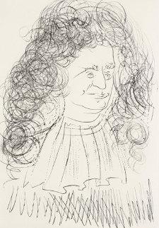 Portrait De La Fontaine (Le Bestiaire De La Fontaine) 1974 Limited Edition Print - Salvador Dali