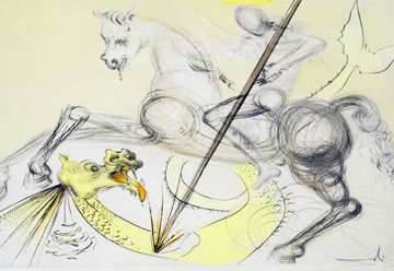 Saint Georges Et Le Dragon 1974 Limited Edition Print - Salvador Dali