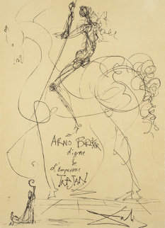 Hommage To Arno Breker - Couleur  1975 Limited Edition Print - Salvador Dali
