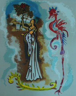 Rowena, From Ivanhoe 1978 Limited Edition Print by Salvador Dali