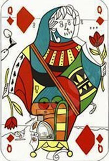 Queen of Diamonds, Playing Cards 1972 Limited Edition Print - Salvador Dali