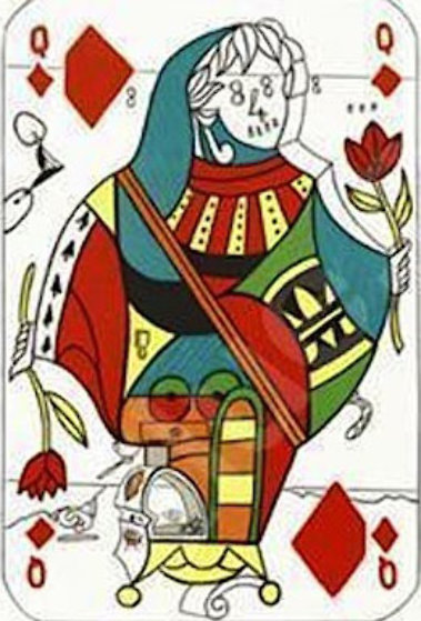 Queen of Diamonds, Playing Cards 1972 Limited Edition Print by Salvador Dali