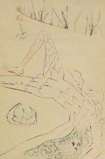 Tristan Wounded, Tristan Et Iseult 1970 Limited Edition Print - Salvador Dali