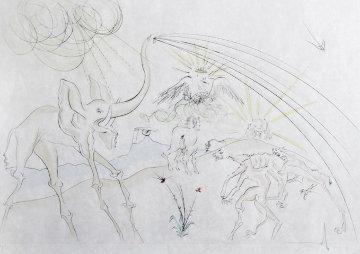 Les Animaux Malades De La Peste From Le Bestiaire De La Fontaine 1974 Limited Edition Print - Salvador Dali