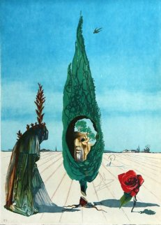 Enigma of the Rose (Death) From Visions Surrealiste 1976 Limited Edition Print by Salvador Dali