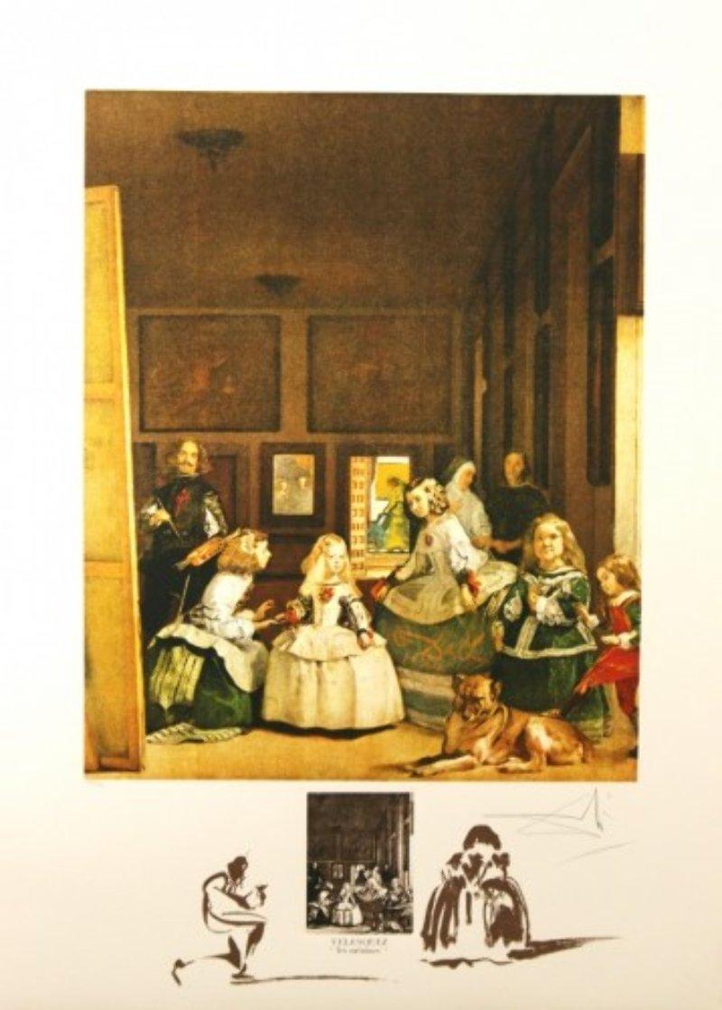 Velasquez Les Meninies 1974 Limited Edition Print by Salvador Dali