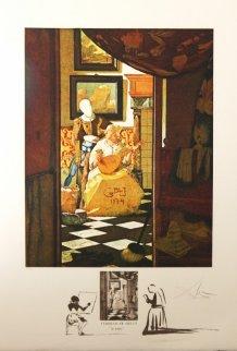 Vermeer La Lettre 1974 Limited Edition Print - Salvador Dali