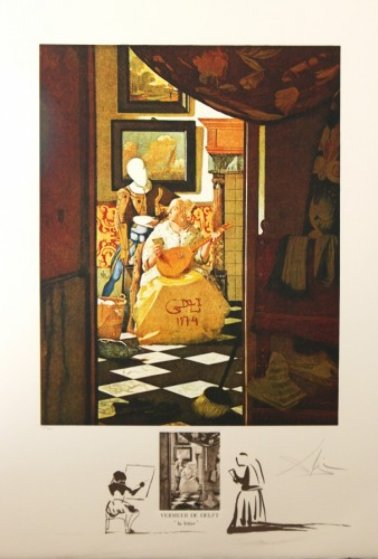 Vermeer La Lettre 1974 Limited Edition Print by Salvador Dali