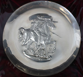 Unicorn Dyonisiaque Silver Medallion 1971 Other by Salvador Dali