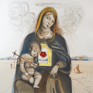 Mystical Rose Madonna 1964 (Early) Limited Edition Print - Salvador Dali