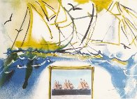 Currier and Ives: American Yacht Racing 1971 Limited Edition Print by Salvador Dali - 0