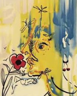 Fleurs Surrealistes Suite of 2 1980 Limited Edition Print - Salvador Dali