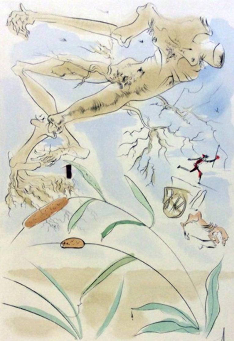 Le Bestiaire De La Fontaine Dalinise, Le Chene Et Le Roseau Limited Edition Print by Salvador Dali