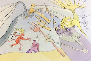 l'Elephant Et Le Singe De Jupiter 1974 Limited Edition Print - Salvador Dali