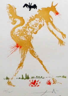 8 Mortal Sins Pride  1966 Limited Edition Print by Salvador Dali