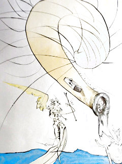 After 50 Years of Surrealism Freud Head of Snails 1974 Limited Edition Print - Salvador Dali