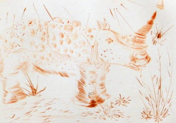 Album Rhinoceros 1968 (Early) Limited Edition Print by Salvador Dali