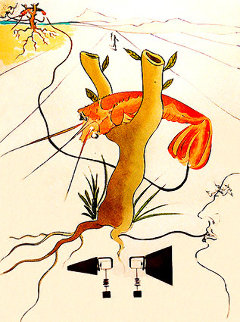 Great Inventions Telephone 1975 Limited Edition Print - Salvador Dali