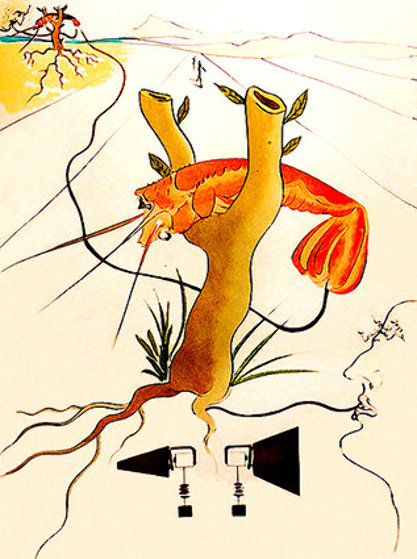 Great Inventions Telephone 1975 Limited Edition Print by Salvador Dali