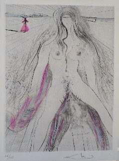 La Venus Aux Fourrures Woman on Horse 1968 (Early) Limited Edition Print by Salvador Dali