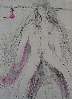 La Venus Aux Fourrures Woman on Horse 1968 Limited Edition Print - Salvador Dali