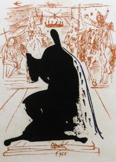 La Vida Es Sueno Figure in an Ermine Cloak 1973 Limited Edition Print by Salvador Dali