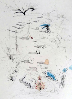 Les Trenches 1967 Limited Edition Print by Salvador Dali